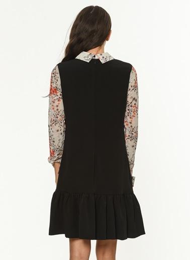 Gömlek Yaka Detaylı Kısa Elbise-Jus De Pommes